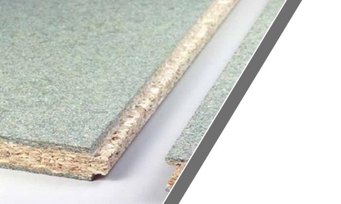 Tableros de partículas de madera con tratamiento anti humedad para cubiertas de madera y revestimiento de suelos